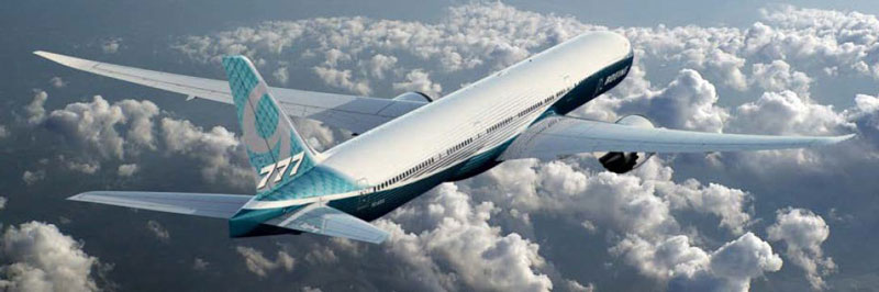Boeing released a picture of the 777X, a longer plane with longer wings.
