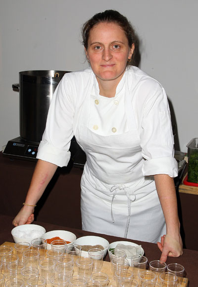 Chef April Bloomfield from The Spotted Pig attends the 2008 New York Media's New York Taste event at Skylight on November 3, 2008 in New York City.