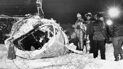 This image provided by the Alaska State Troopers shows the wreckage of the amphibious plane carrying former Sen. Ted Stevens which crashed into a remote mountainside during a fishing trip, killing the senator and four others.