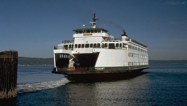 The Washington State Ferry MV Cathlamet