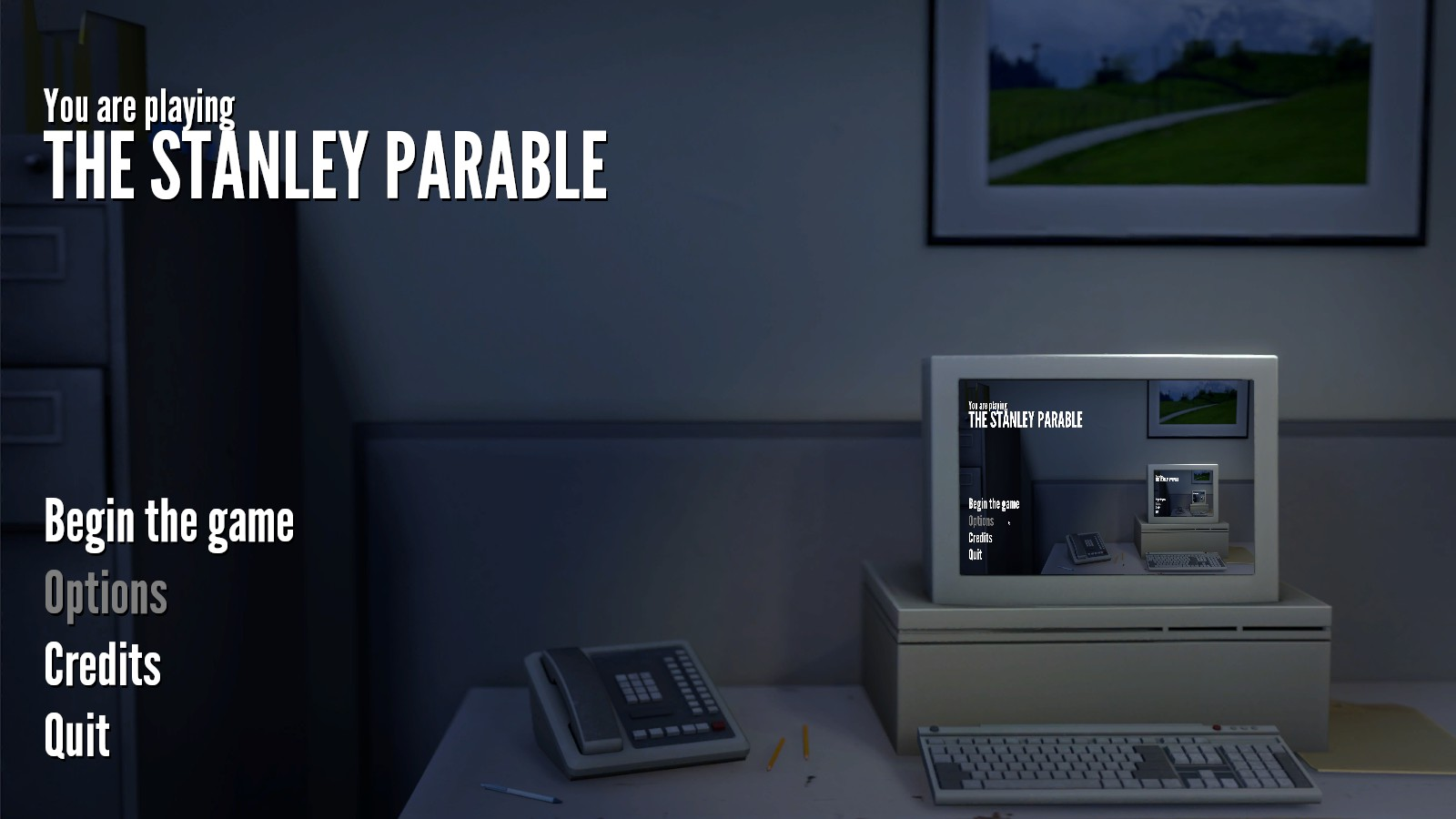 There is more to an office job than pushing buttons in The Stanley Parable