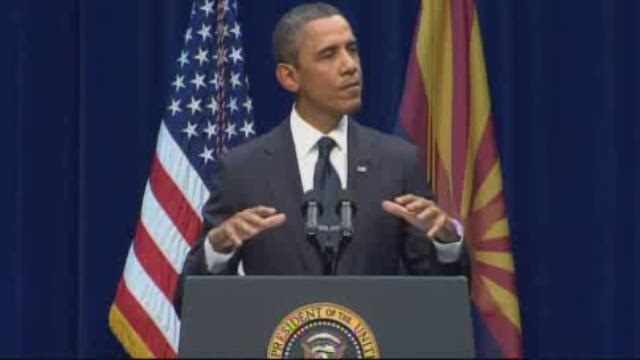 RAW: Pres. Obama speaks at Arizona shooting service