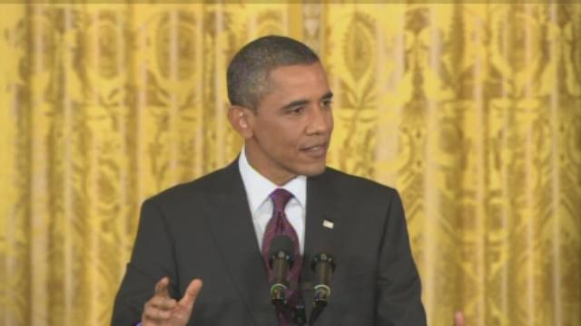 Obama discusses Boeing plant relocation during news conference