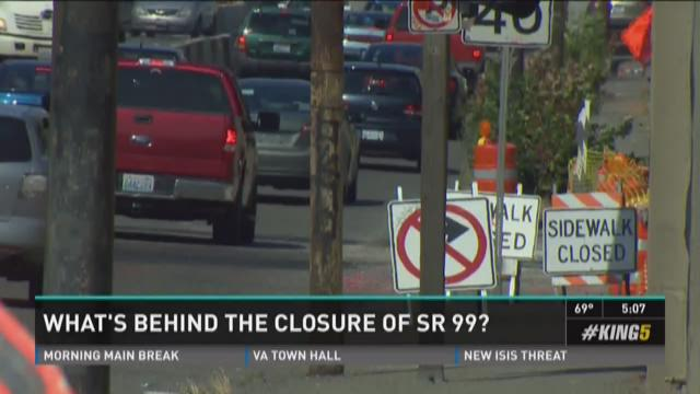 What's behind the closure of Highway 99?