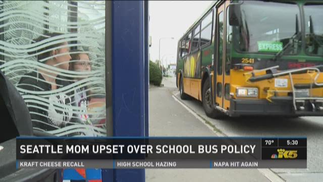 Seattle mom upset over school bus policy