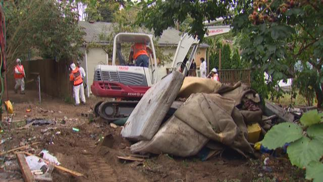 City, neighbors work to clean up after squatters