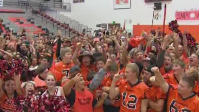 Monroe HS football morning pep rally
