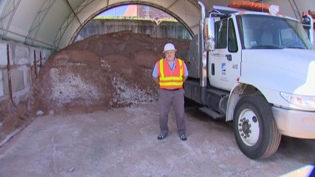 The city of Tacoma is already preparing for winter by having drivers practice driving snow plows around town.
