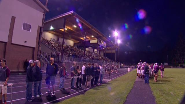 Two years after the bleachers at Montesano High burned down, the Bulldogs' rebuild is complete and the fans are excited.