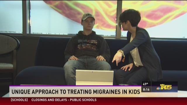 Tyler Stewart takes part in cognitive behavioral therapy to treat his chronic migraines.