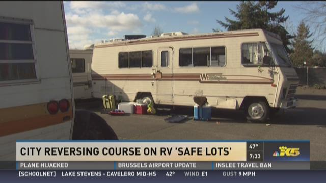 City Reversing Course On Rv Safe Lots King5 Com