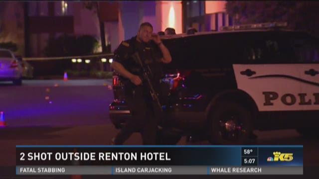 2 shot outside Renton hotel