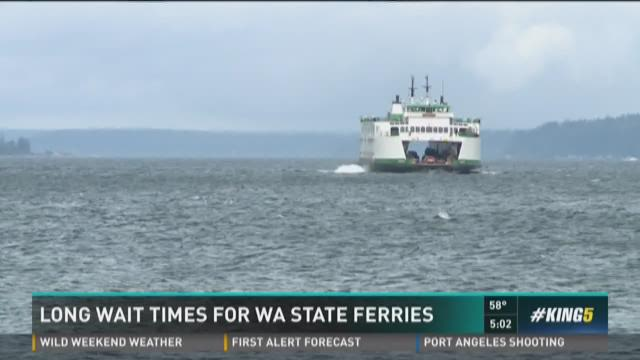 Long wait times for WA state ferries