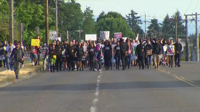'Black Girls Matter' protest in Tacoma