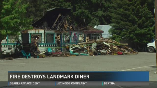 Fire destroys landmark diner | KING5.com