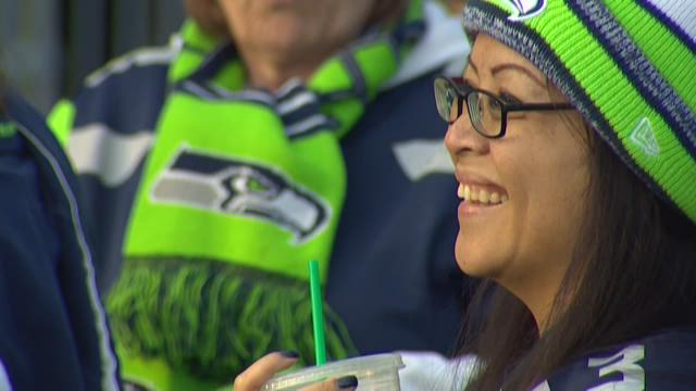 Thousands of chanting Seahawks fans turned out Sunday