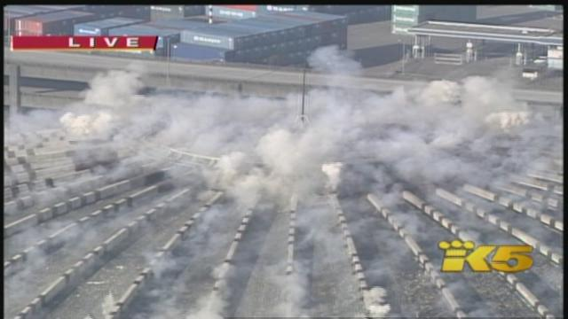 KING 5 coverage of Kingdome implosion