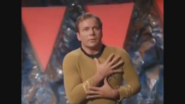 William Shatner poses for photographs during the Destination