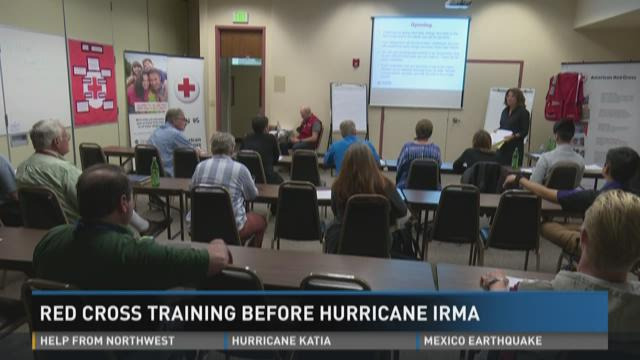 Red Cross Training Before Hurricane Irma