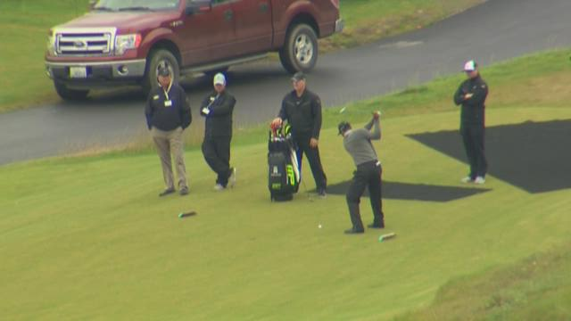 Tiger tests out Chambers Bay