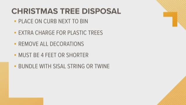 Mobile collecting Christmas trees at 7 recycling sites