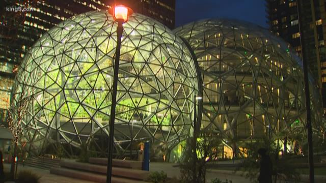 Amazon 'Spheres' landmark opens in downtown Seattle