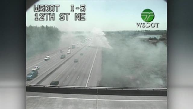 Fires were set along I-5 near Marsyville.