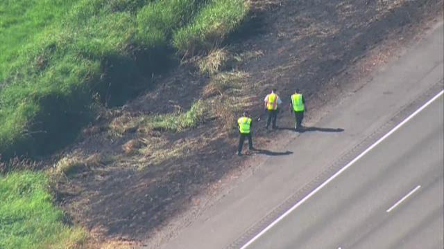 Fire investigators found a flare with a fingerprint