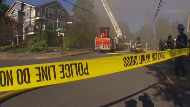 An apartment fire on Seattle's Queen Anne Hill on July