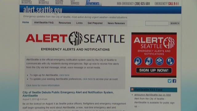 Seattle activates new alert system