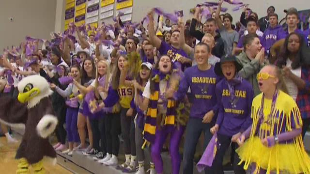 Friday football pep rally at Issaquah High School