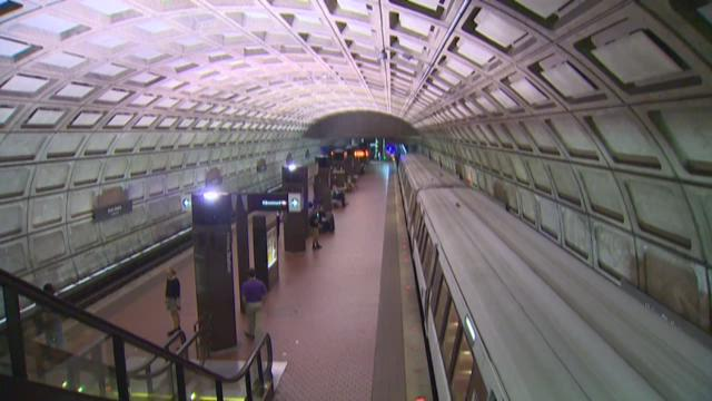 A sign in a Red Line station shows estimated wait times for arriving trains. Riders complain that delays and breakdowns are more frequent as Metro struggles to fund regular maintenance.