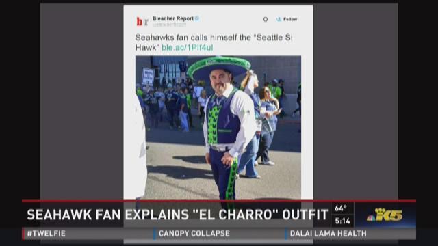 Seahawk fan and his 'El Charro' suit