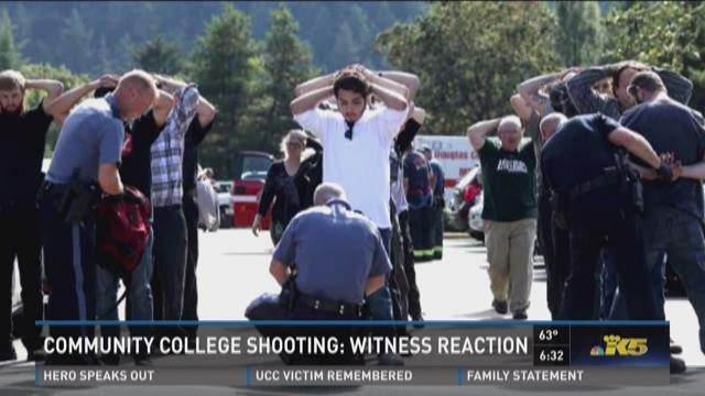 Witness describes terror of UCC shooting