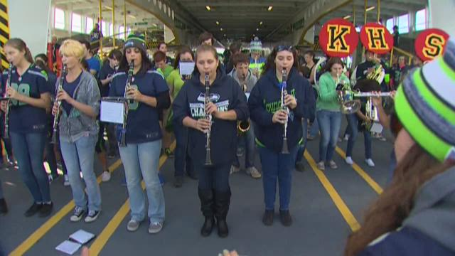 First pep rally for 12s on ferry
