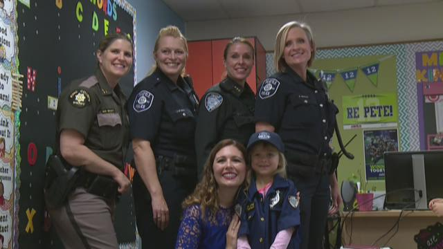 Police officers surprise 5-year-old