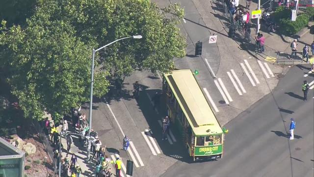 Aerial view of the Seattle Storm 2018 WNBA Championship Parade